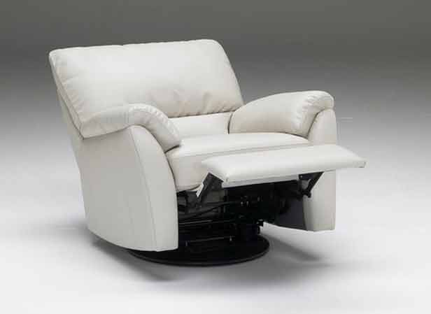 Deep upholstered swivel recliner idea in white colour with cozy armrest feature & Modern Swivel Recliner Options | HomesFeed islam-shia.org