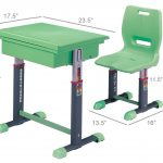 Dimensions Of Kids Desk And Chair With Green Color