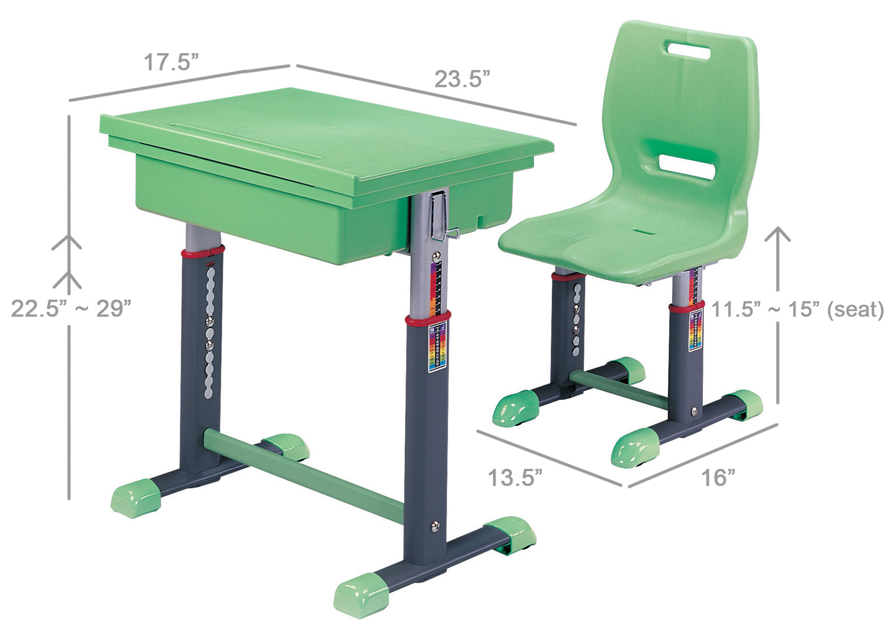 kid desk furniture. dimensions of kids desk and chair with green color kid furniture