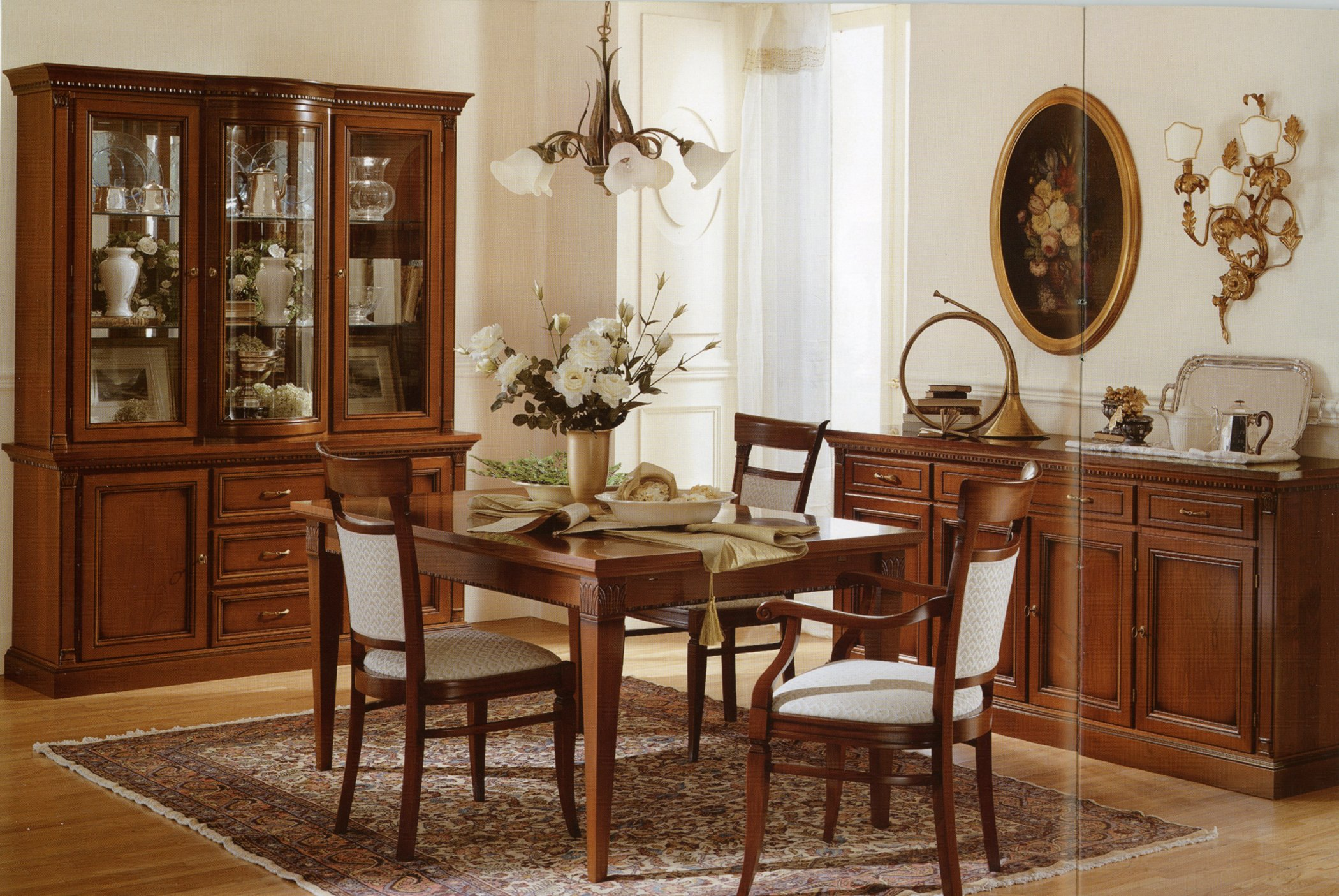 Dining Room Sets With Accessories On Table And Col Chandelier
