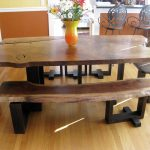 Dining room furniture with wood bench