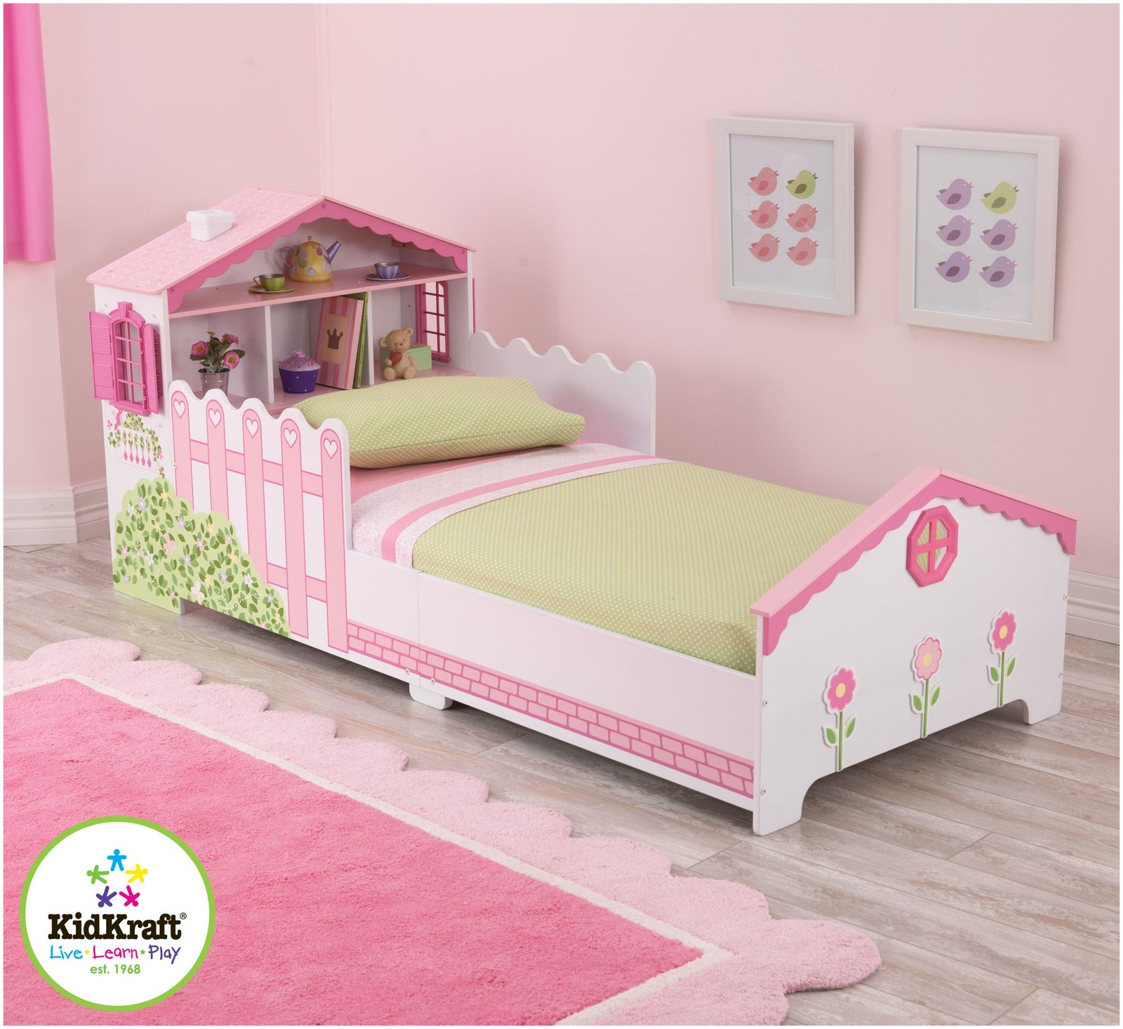 Dollhouse Toddler Bed By Kidkraft With Wood Construction