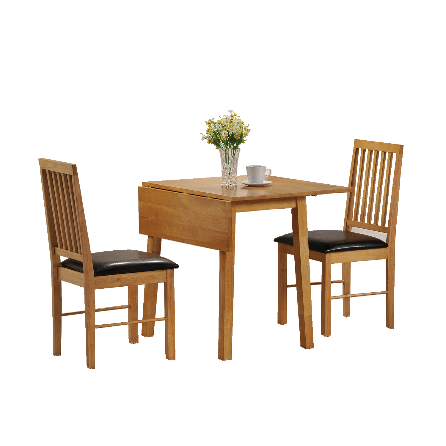 Drop leaf tables for small spaces homesfeed for Dining room table with bench