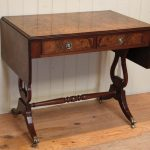 Drop leaf table with a pair of drawers in vintage look