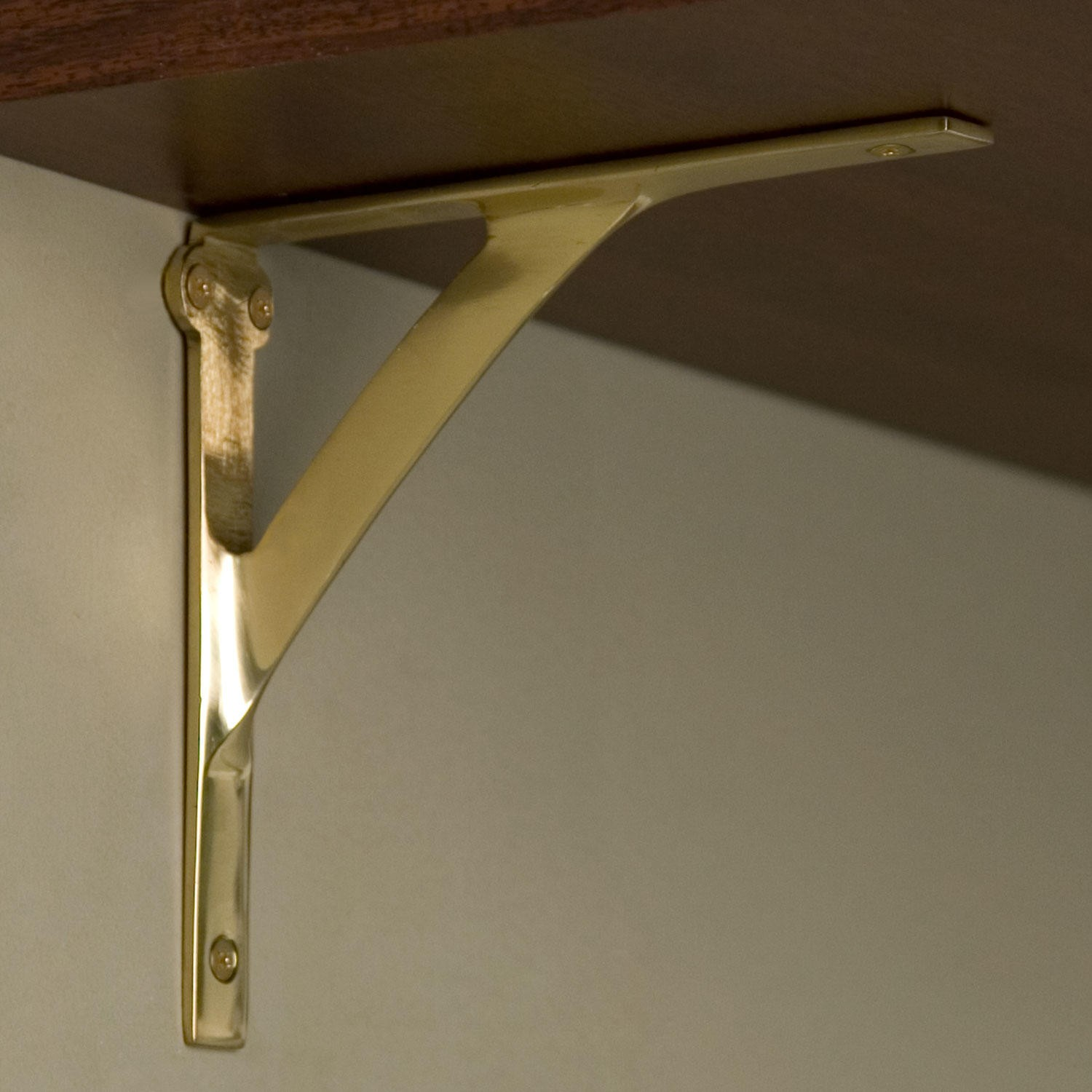 elegan golden wall shelf brackets