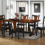 Elegant Dinette Set With Long Square Table And 6 Chairs Grey Rug Cool Chandelier White Wall
