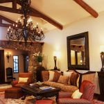 Elegant Spanish Living Room With Exposing Beams Classic Chandelier Old Style Of Sofas And Big Mirror