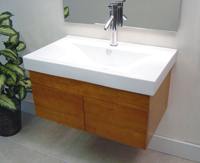 Elegant And Minimalist Wall Mount Sink Idea With Minimalist Faucet