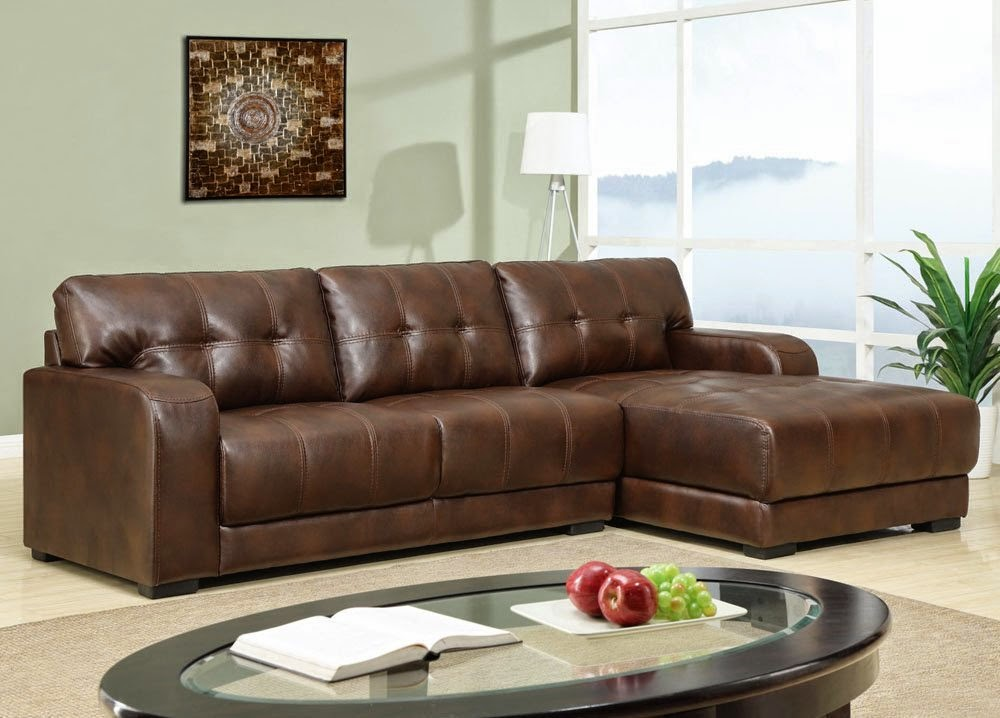 Small sectional sofa with chaise perfect choice for a for Black leather sofa chaise lounge