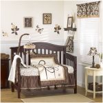 Excellent Unisex Baby Room With Plants Design And Brown Color