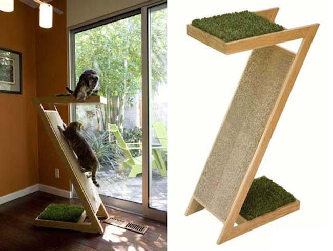 Unique tall cat trees homesfeed - Contemporary cat furniture ideas ...