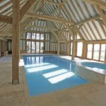 Exposing Beams Inside Indoor Swimming Pool