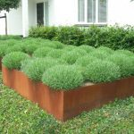 Extra large size outdoor steel planter designed by Corten
