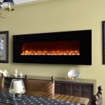 Fireplaces LED Wall Mount Electric Fireplace With Classic Cabinet And Dining Room Table Chair Set Table Cover