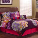 Flower Pattern And Design Of Bed Sheet Colorful Brown Bed Simple Shader Window