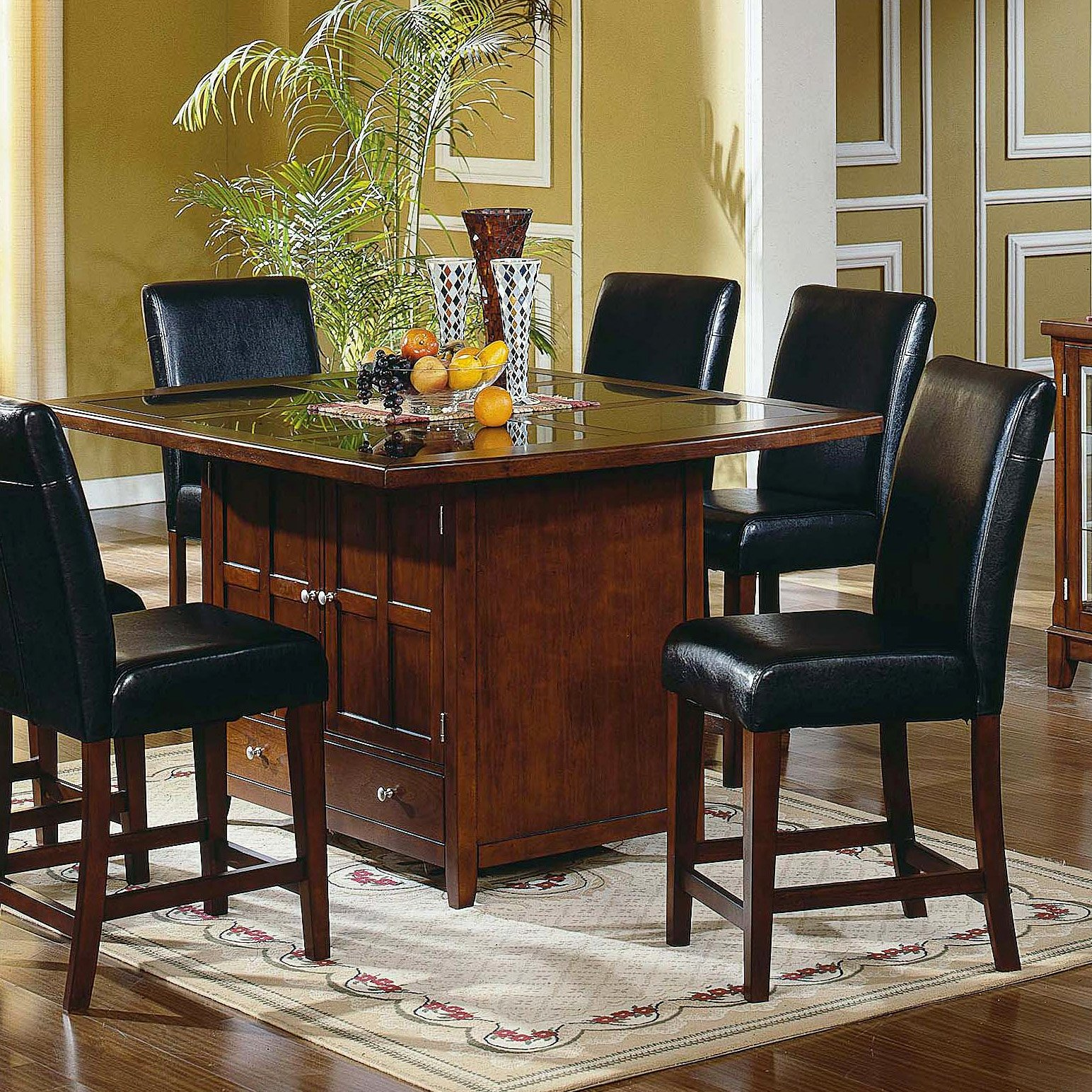 26 Big Small Dining Room Sets With Bench Seating: High Top Kitchen Table Sets