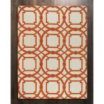 Global view rug with modern pattern