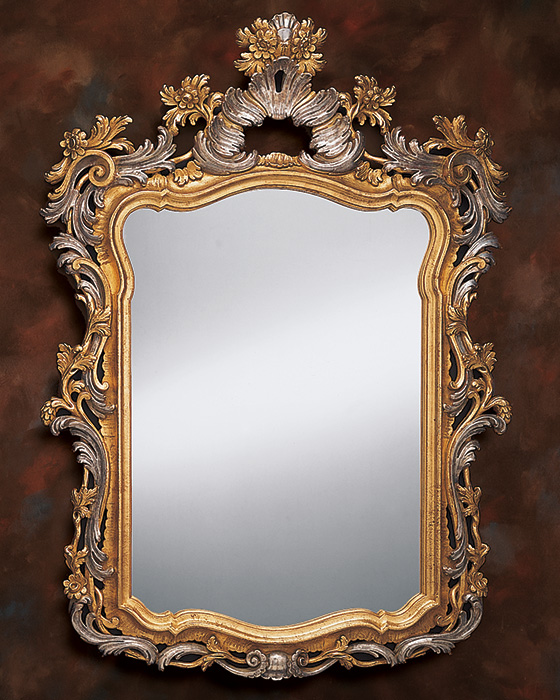 Silver framed mirrors on sale