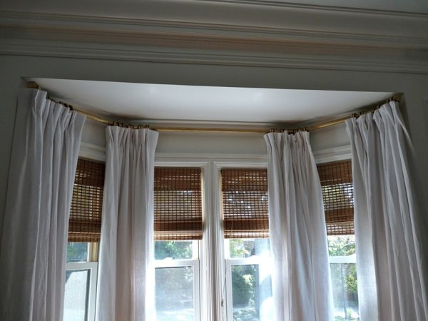 Ceiling mount curtain rod ideas homesfeed Ceiling window