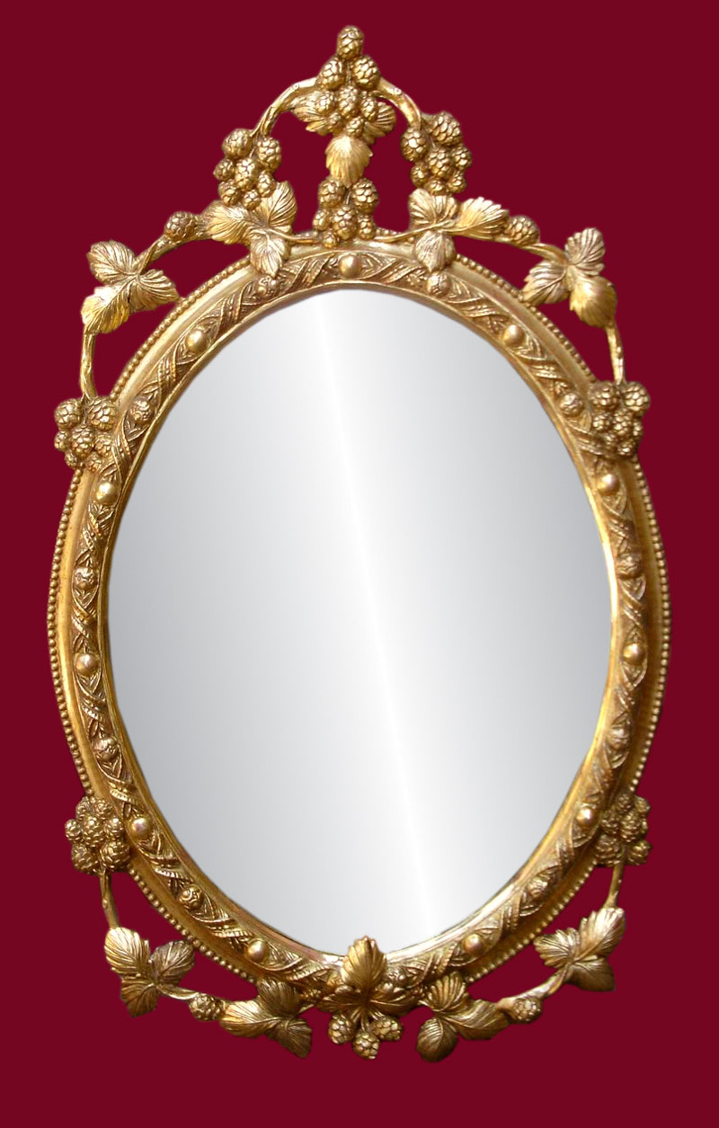Antique looking mirrors add a little classic touch to for Mirror with mirror border