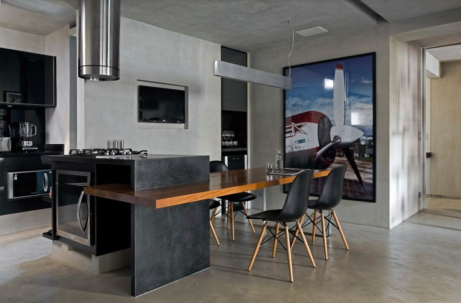 Gothic Kitchen Island Table Combination Design With Black Modern Dining  Chairs With Wood Legs And Wooden