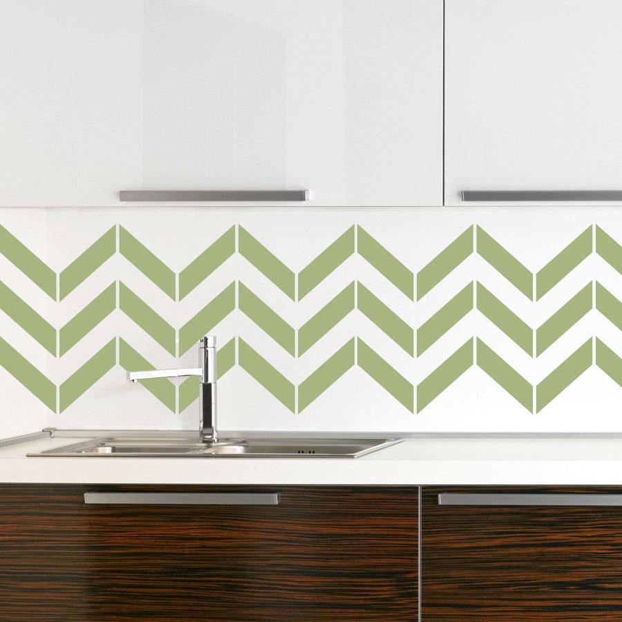 Wallpaper for kitchen backsplash homesfeed for Wallpaper decals