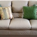 Grey Big Couch With Colorful Pillows