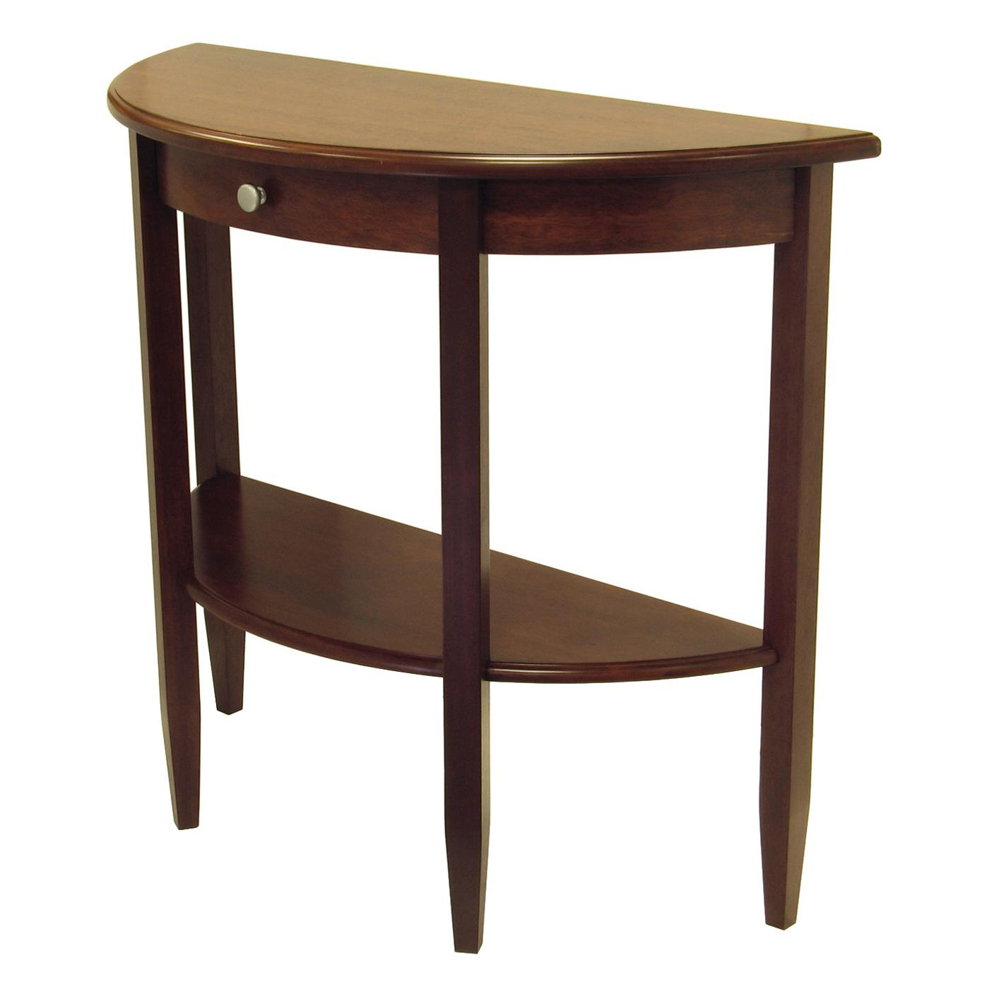 Half moon entry table homesfeed - Half table entryway ...