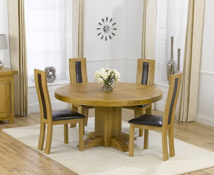 Round dining table set for 4 homesfeed for Round dining table for 4
