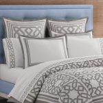 Jonathan Adler bedding idea in neutral tone color and modern pattern