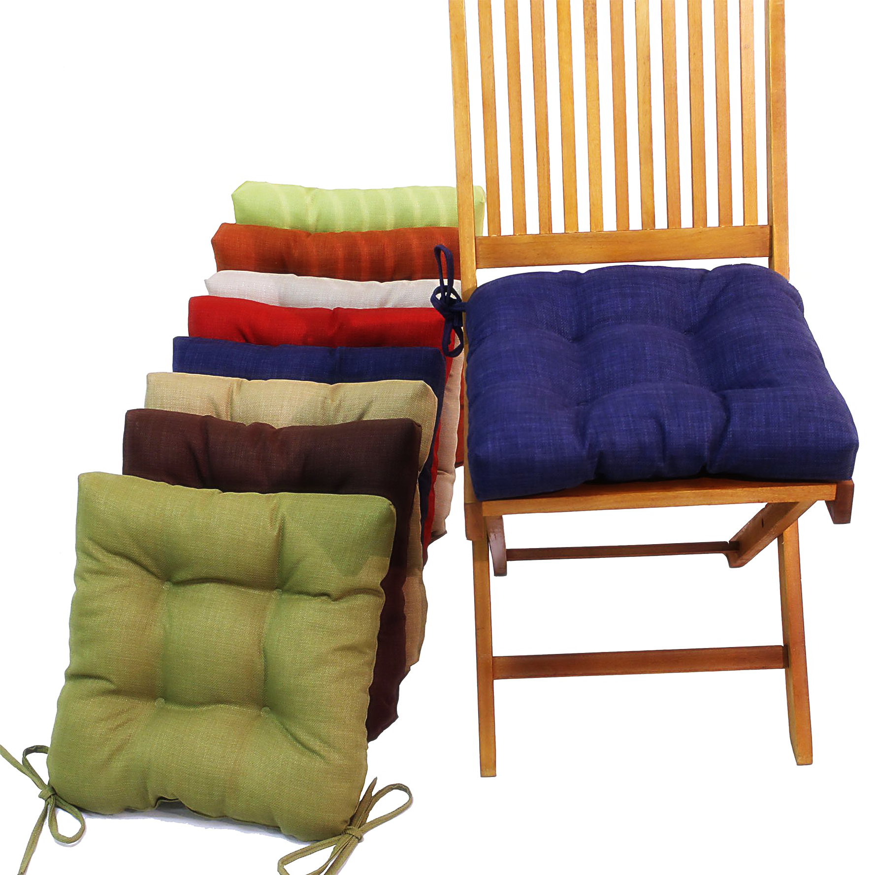 Kitchen chair cushions with ties homesfeed for Kitchen chairs