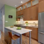 Kitchen Layout Feng Shui With Decoration Wooden Set And Hardwood Floor