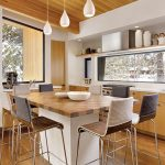 Kitchen island table combination with modern bar stools three series of modern white pendant lamps