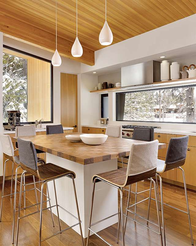 Kitchen island table combination a practical and double for Kitchen island table