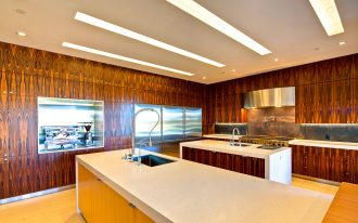 Laminate Flooring With Wall Covering Ideas Of White Kitchen