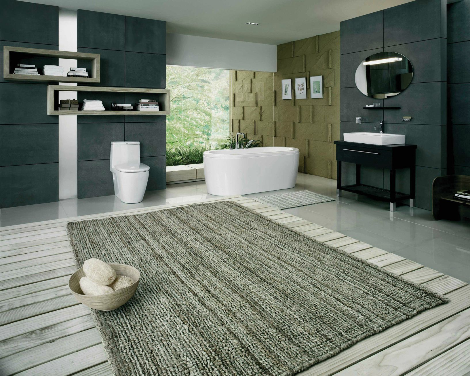 Large bathroom rugs homesfeed for Large bathroom designs pictures