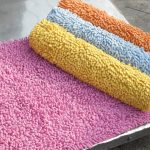 Large bathroom rugs in various colors