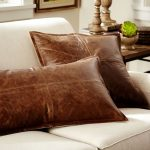 Leather throw pillows for couches