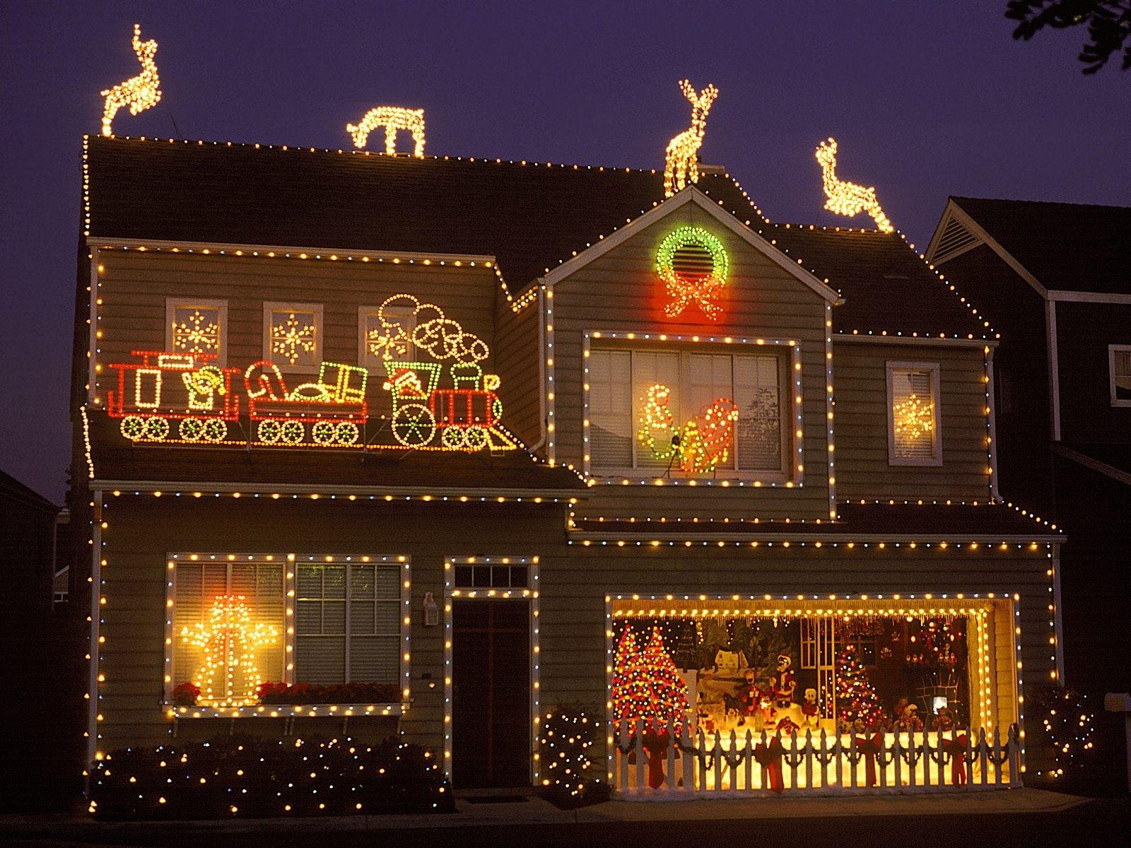 Light Decorating House Christmas Deer