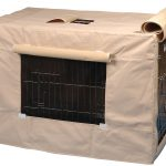 Light brown fabric cover for dog crate