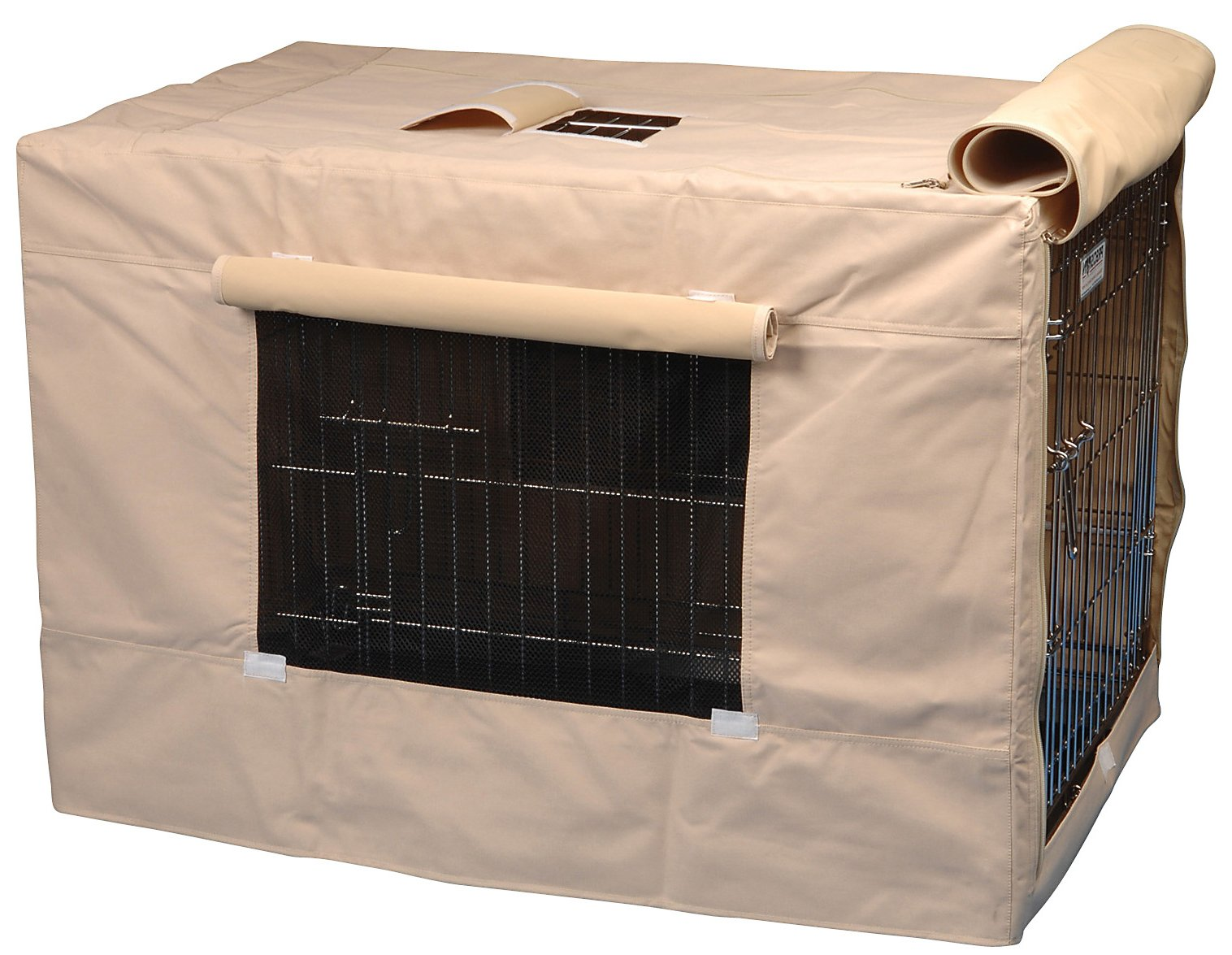 pet crate covers fabrics color and design selections  homesfeed - light brown fabric cover for dog crate
