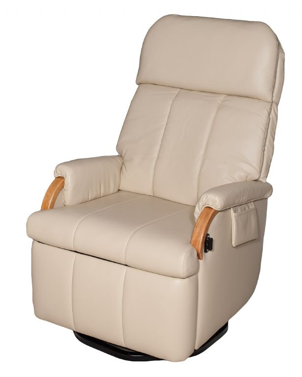 Light cream leather recliner idea with armrest feature  sc 1 st  HomesFeed & Wall Hugger Recliners: Designs and Fabrics | HomesFeed islam-shia.org