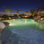 Lighting Design For Beautiful Pool And Natural View Of Rocks And Plants