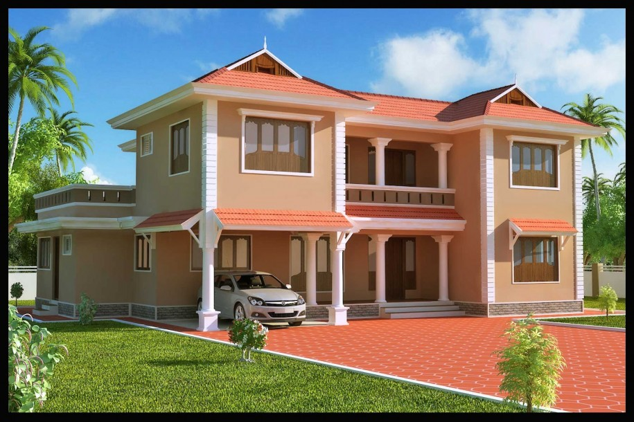 Luxurious House Plan In 3 Dimension Version
