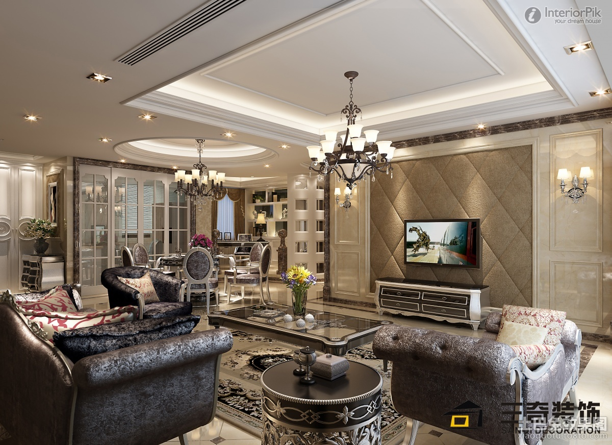 Charming Luxury Living Room Interior Design With Awesome Furniture And Perfect  Bright Lighting