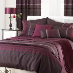 Maroon And Earthy Brown Duvet Cover Idea In Extra Large Size Some Pillows White Wood Bedside Table With Cabinet And Black Painted Wood Frame