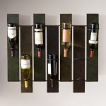 Marvelous wine rack with up side down wine bottles