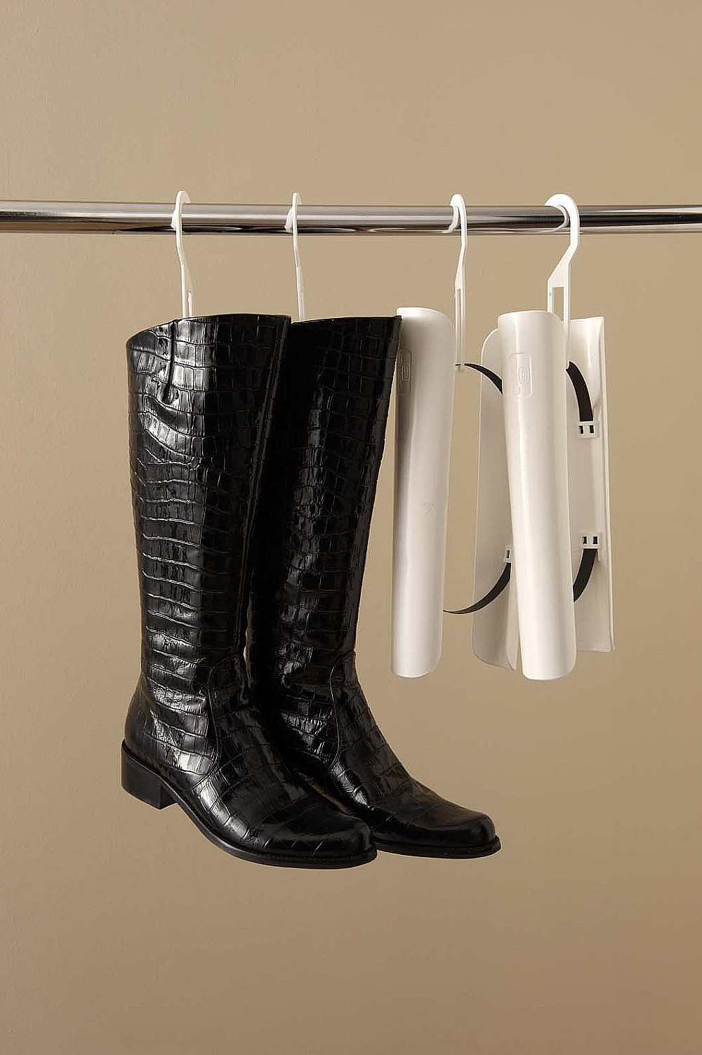 Metal Rod Idea For Hanging Boots