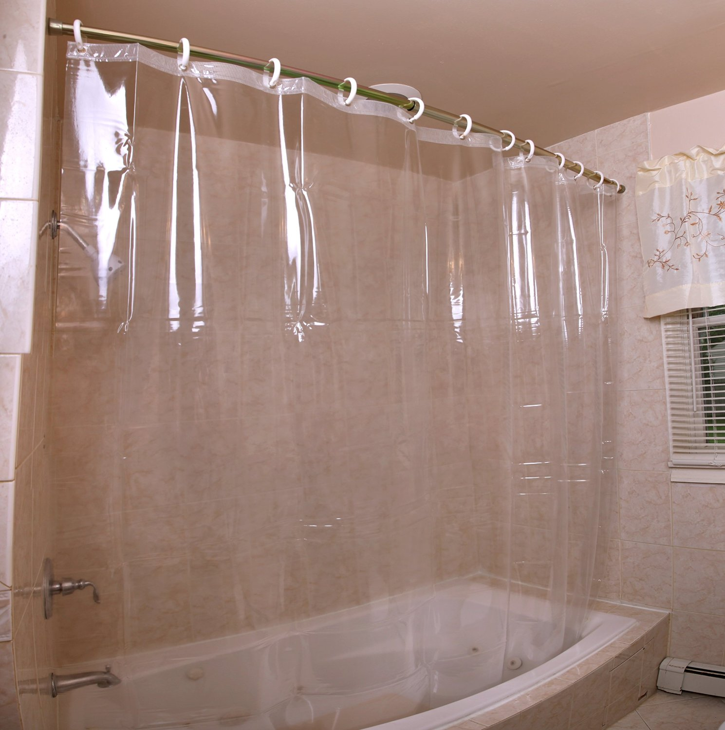 Mildew Resistant Antibacterial Heavy Duty Shower Curtain Liner