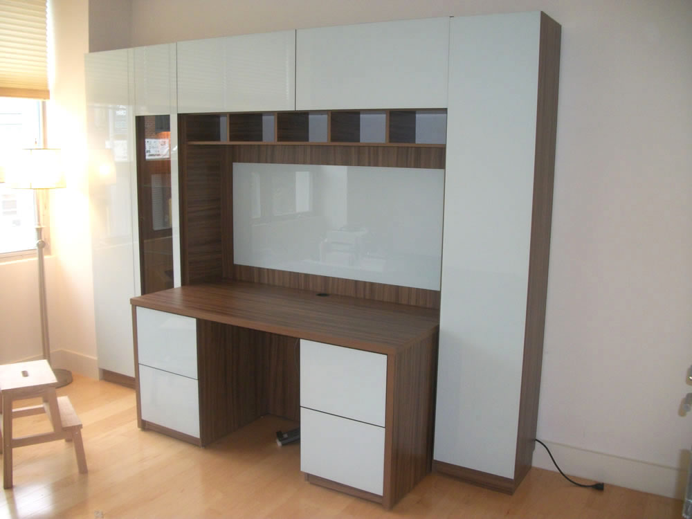 wall unit with desk: smart storage solution for home office